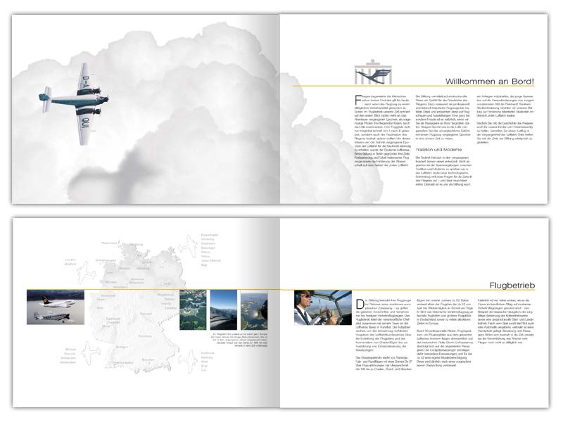 Deutsche Lufthansa Berlin-Stiftung Image broschüre erstellen und gestalten in Hamburg